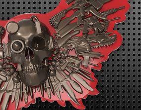 3D printable model SKULL GUNS KNIVES