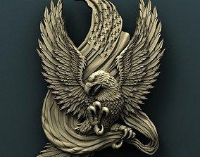 American Eagle 3d stl model for cnc 3D 2