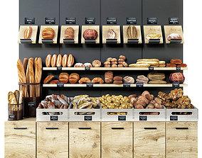 showcase 3D model Bread shop