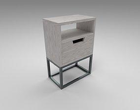 Modern bedside table light brown 3D model