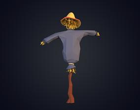 Scarecrow Low Poly 3D asset
