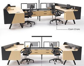 3D model Canvas Vista Workstation