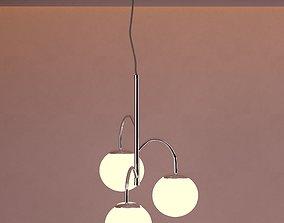 brushed Lamp Set 3D Model