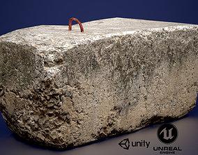 Concrete slab 3D asset