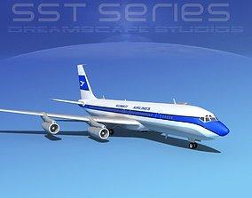 3D Boeing 707-320 SS Kuwait Airways
