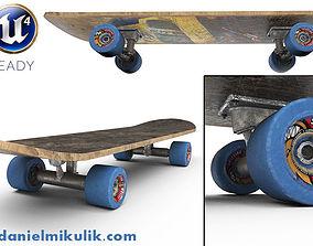 3D model PBR Old Skateboard