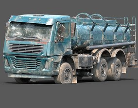 3D asset Lowpoly Abandoned Generic Tanker Fuel Cistern