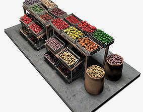 Vegetable Stand Market 3D
