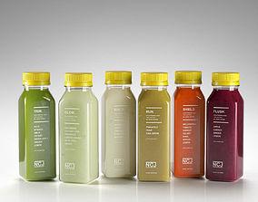 Juice Bottles 03 3D