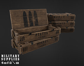 3D asset Military Supplies Pack - Wooden Ammo Boxes