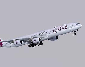 Airbus A340-600 Qatar Airways 3D model