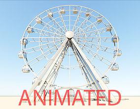 Ferris Wheel realistic 3d model vray animated