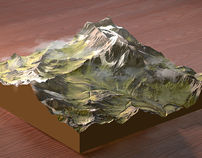 Gaea - Summer Alps Mountains 3D model
