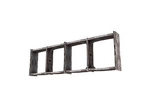 3D asset Wooden Bookshelf 10