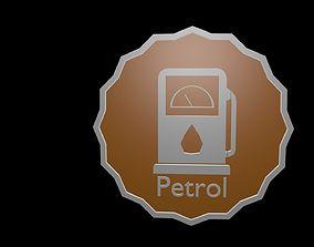Low poly symbol petrol 1 3D model