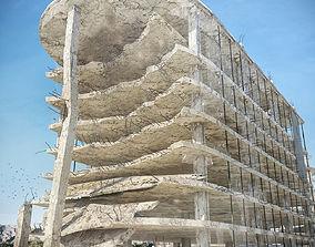3D model realtime Damaged building 02