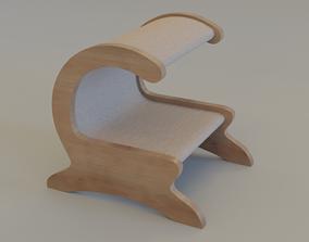 Cat Bed Scratcher break 3D