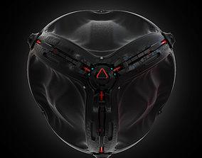3D model sci fi sphere
