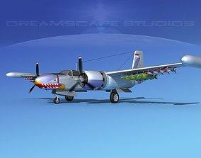 3D Douglas A-26K Invader Indonesia