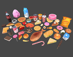 Low Poly Food Pack 3 3D model game-ready