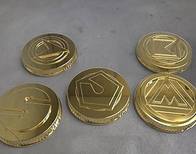 3D printable model Alien rangers power coins