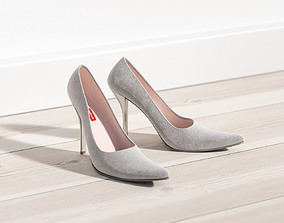 3D model Woman high-heel shoes
