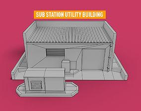 3D Sub Station Critical Utility building transformer