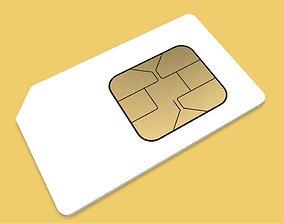 SIM CARD cdma 3D model