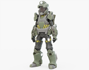Scifi Character 01 3D asset