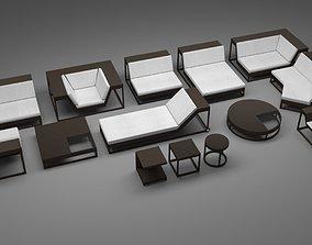 3D model Dedon Outdoor Furniture Set