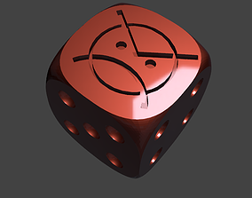 3D printable model ANGRY MARINES 16 MM DICE FOR 40K