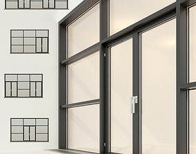 Panoramic glazing Stained glass 25 3D asset