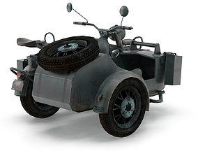 German Motorcycle 3D model