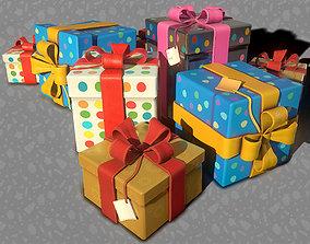 3D Birthday Presents - Game Ready VR / AR ready