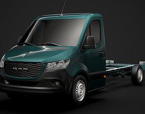 3D model RAM Sprinter Chassis Single Cab L3 RWD 2020