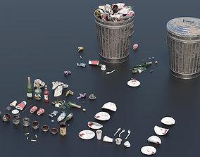 Trash Set 2 PBR Game Ready 3D asset low-poly