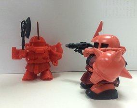 Zaku Q version Mobile Suit 3D print model