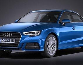 3D Audi A3 2017 sedan