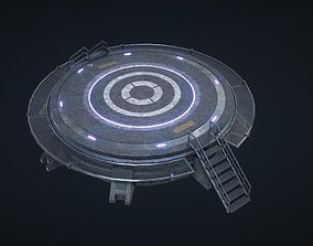 Mars Kit Bash - Landing Pad 3D model