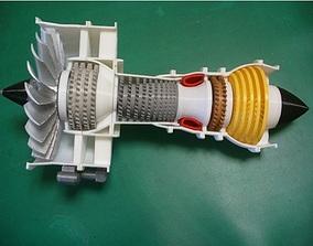 3D print model Jet engine 2 spool