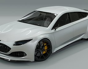 3D Generic 4 door V8 Sports Car