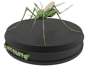 Mosquito aedes aegypti 3D asset