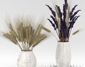 3D Dried flower bouquets - rye and lavender