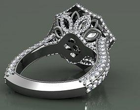 3D print model Stella engagement ring