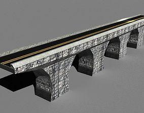 3D model Low Poly Road Bridge