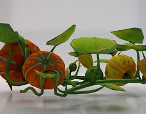 Pumpkins 3D asset