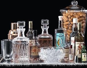 Alcohol set 3D