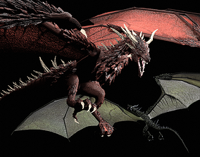 Red and Green Dragons 3D
