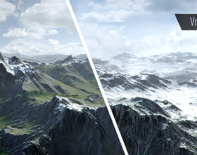 3D model Mountain Summer and Winter Textures