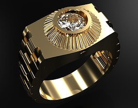 3D print model Rolex Ring With Diamonds fashion